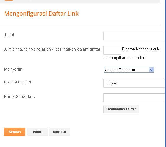 cara memasukkan link pada blog
