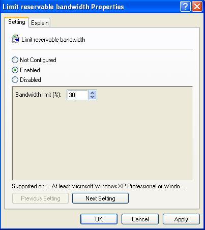 Membagi Bandwidth tanpa software