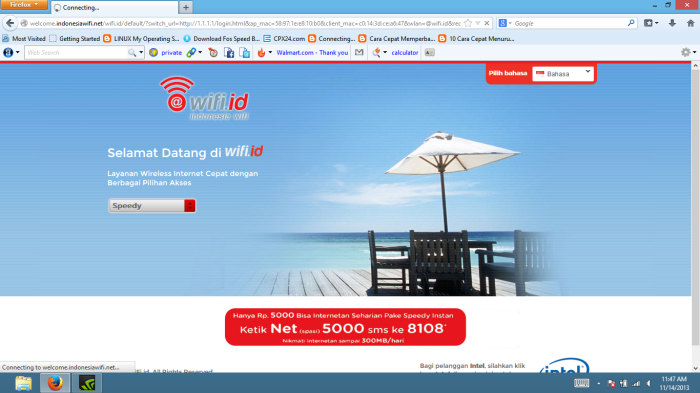 Cara login wifi id gratis tanpa software