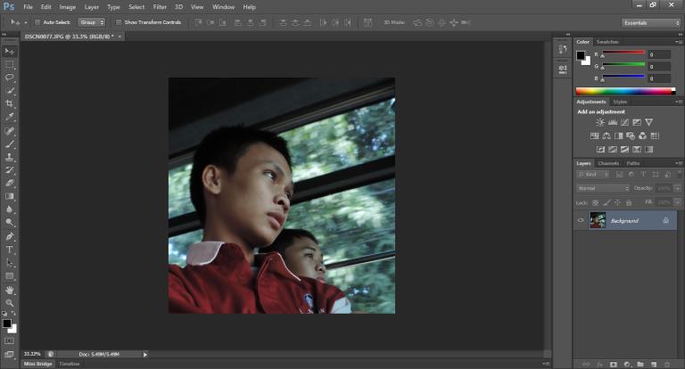 Cara memberikan efek pensil menggunakan Photosop