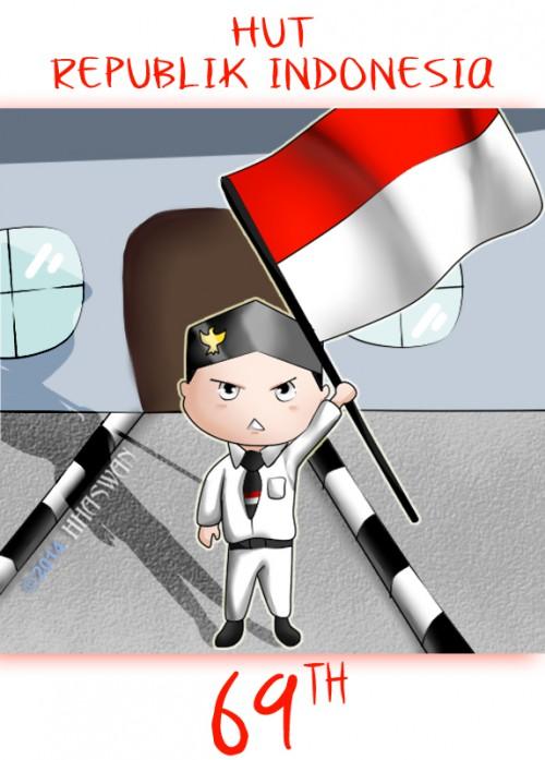 Happy Birthday Indonesia 69 Tahun