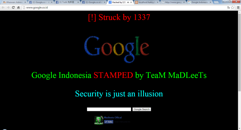 "Google.co.id di hack di hari ""Idul Adha"""